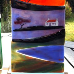 Arran cottages - Fused Glass Graham Muir | Paisley Scotland