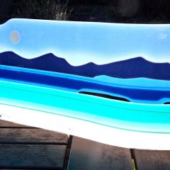 Harris hills - Fused Glass Graham Muir | Paisley Scotland