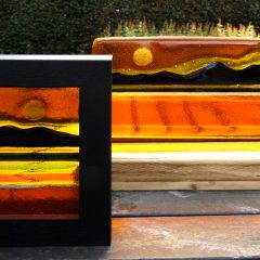 Arran mini pictures - Fused Glass Graham Muir | Paisley Scotland