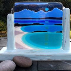 Arran from Bute driftwood - Fused Glass Graham Muir | Paisley Scotland