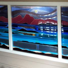 Large Panels Fused Glass Art Graham-Muir Scotland