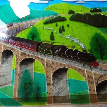 Finished Panel: Glenfinnan Viaduct with Jacobite steam train