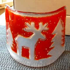 Christmas Decor: tealight holder | Fused Glass Graham Muir Scotland
