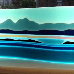 Jura Seascape - Fused Glass Graham Muir | Paisley Scotland