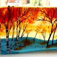 Argyll Autumn - Fused Glass Graham Muir | Paisley Scotland