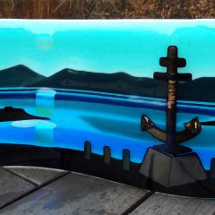 Cross of Llorraine Gourock - Fused Glass Graham Muir | Paisley Scotland