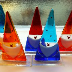 Christmas gnomes - Fused Glass Gifts Seasonal Graham Muir Paisley