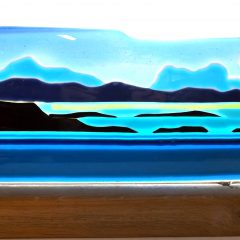 Assynt landscape - Fused Glass Graham Muir | Paisley Scotland