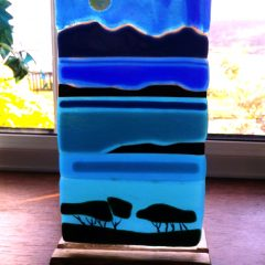Arran from Ayrshire - Fused Glass Graham Muir | Paisley Scotland