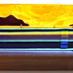 Lamlash Bay - Fused Glass Graham Muir | Paisley Scotland