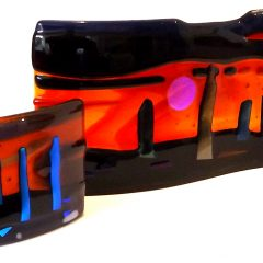 Brodgar Sunsets - Fused Glass Gifts Seasonal Graham Muir Paisley