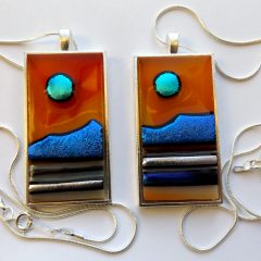 Arran - Fused Glass Pendant Paisley Scotland